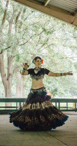 Photo of me dancing at Pagan Pride Day in Indianapolis, fall 2016. Picture by P. Shypula.