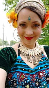A dance selfie from an art fair gig.