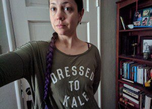 One of my weekend, no-makeup days (with new favorite shirt).