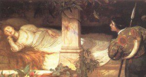 "Illustration of ""Sleeping Beauty"" by Edward Brewtnall. In public domain."