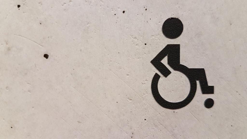 painted image of a wheelchair icon
