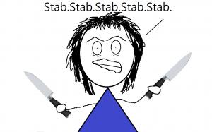 must stab something