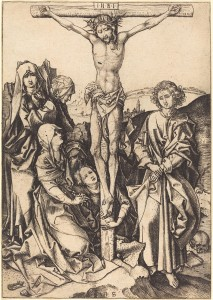 Martin Schongauer (German, c. 1450 - 1491 ), The Crucifixion, c. 1480, engraving, Rosenwald Collection 1946.10.1