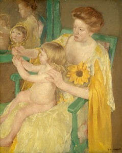 Mary Cassatt, Mother and Child, American, 1844 - 1926, c. 1905, oil on canvas, Chester Dale Collection