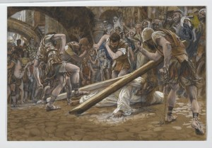 Brooklyn_Museum_-_Jesus_Falls_Beneath_the_Cross_(Jésus_tombe_sous_la_Croix)_-_James_Tissot