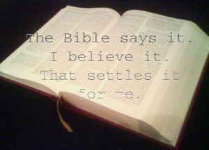 Bible-Believing Christians or liars?