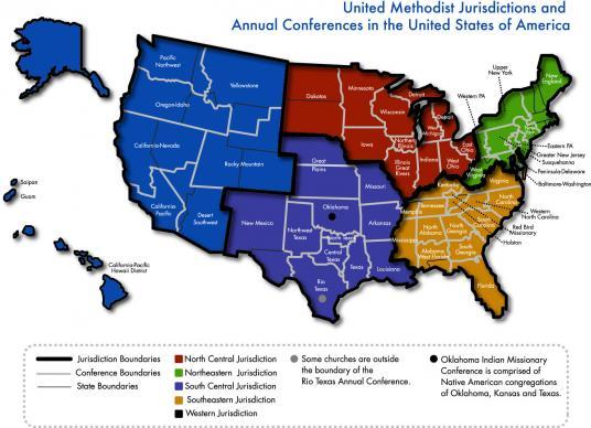 UMC Jurisdictions. Photo courtesy of UMC Communications