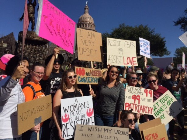 The people speak at the Austin TX march