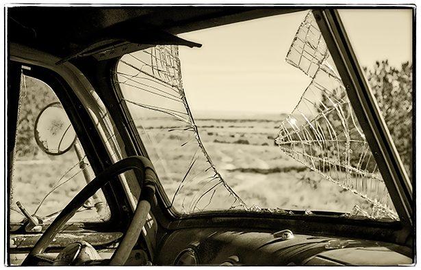 shattered car windshield looks like my breaking point