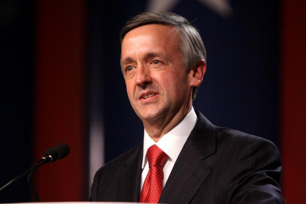 Robert Jeffress, pastor, First Baptist Church, Dallas. He is Trump's number one cheerleader.