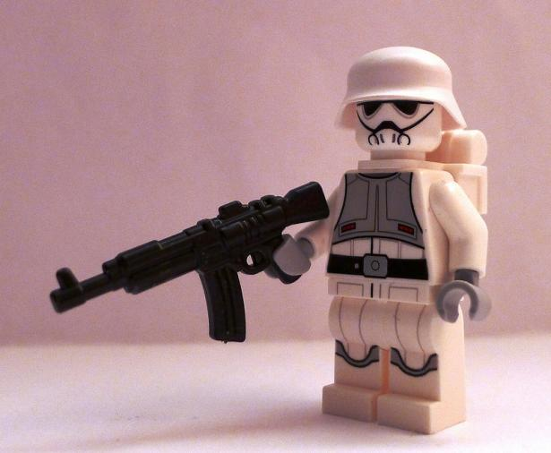 angry white male with assault weapon
