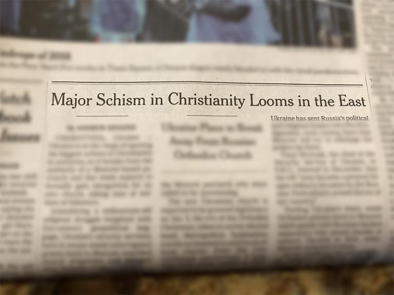 church split headline