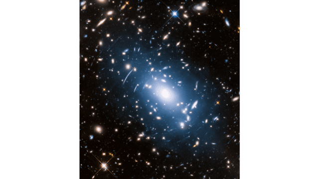 Don't knowness--a cluster of galaxies by the Hubble Telescope