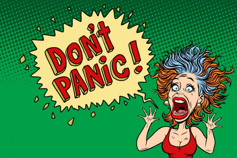 Just trust God don't panic comic
