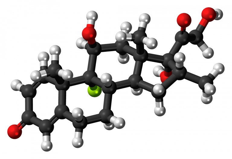 Chemical structure of Dexamethasone, president's doctors prescribed this