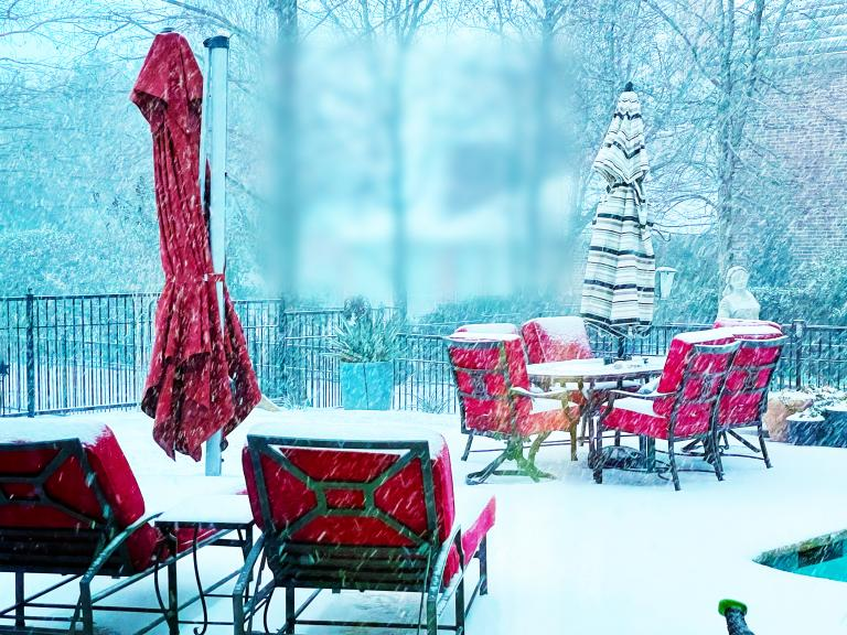 survivor's guilt: the beauty of the snow before the Texas Tragedy hit