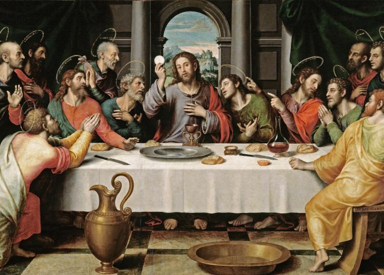 """Juan de Juanes, """"The Last Supper,"""" ca. 1562"""