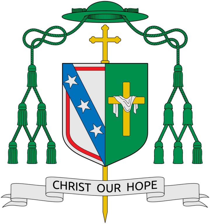 Coat of Arms of Bishop Francis Xavier DiLorenzo, Creative Commons