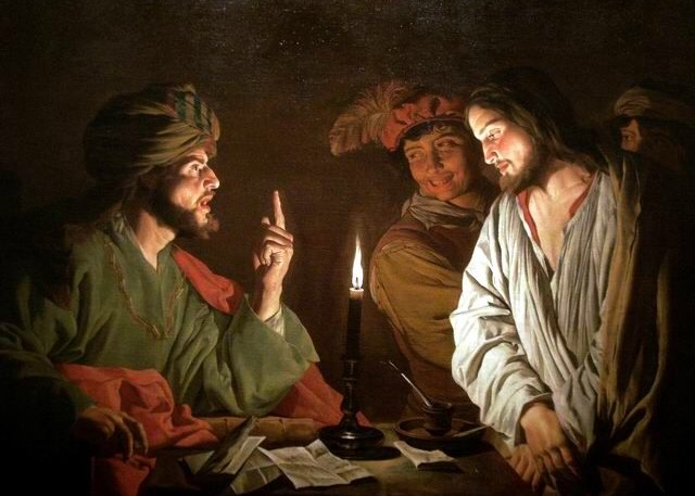 "Matthias Stom, ""Christ Before Caiaphas"""