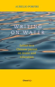 Writing on water cover