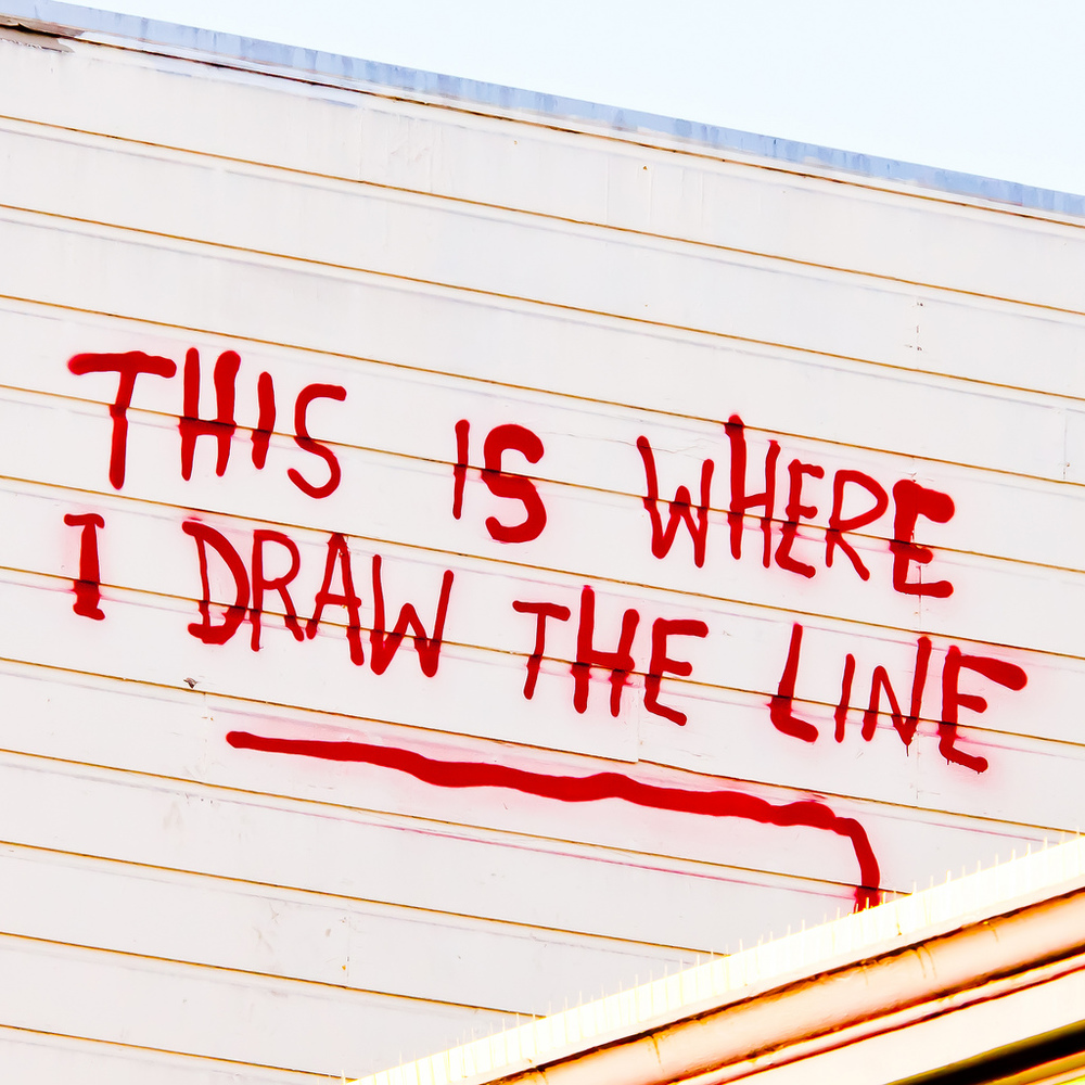 Image Source: This is Where I Draw the Line by Thomas Hawk; CC 2.0