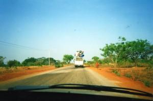 A road in Burkina Faso