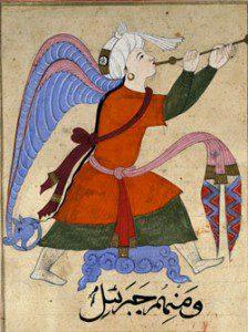 Angel Jibreel, by Zakariya al-Qazwini [Public domain], via Wikimedia Commons