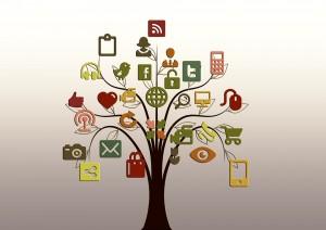 Image credit: Pixabay. The tree of social media.