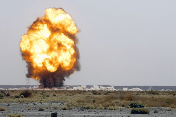 Munitions Explosion by Department of Defense