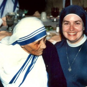 """Sr. Magaret Mary Charles Kerry, FSP with Mother Teresa, MC"" courtesy of Sr. Margaret Kerry, FSP"