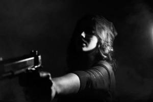 """Woman with a Gun"" by Sofia Sforza"