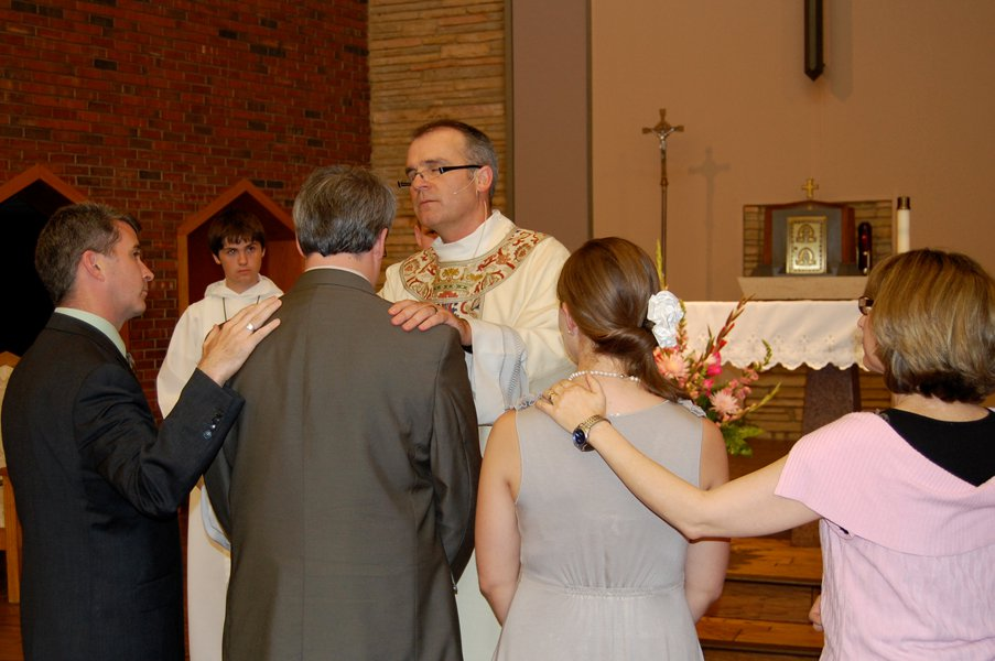 My wife and I at our Confirmation into the Catholic Church in 2011.