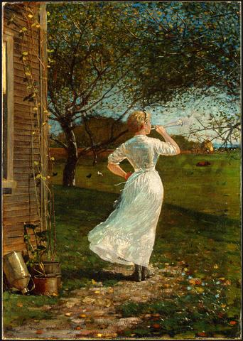 The_Dinner_Horn - Winslow Homer