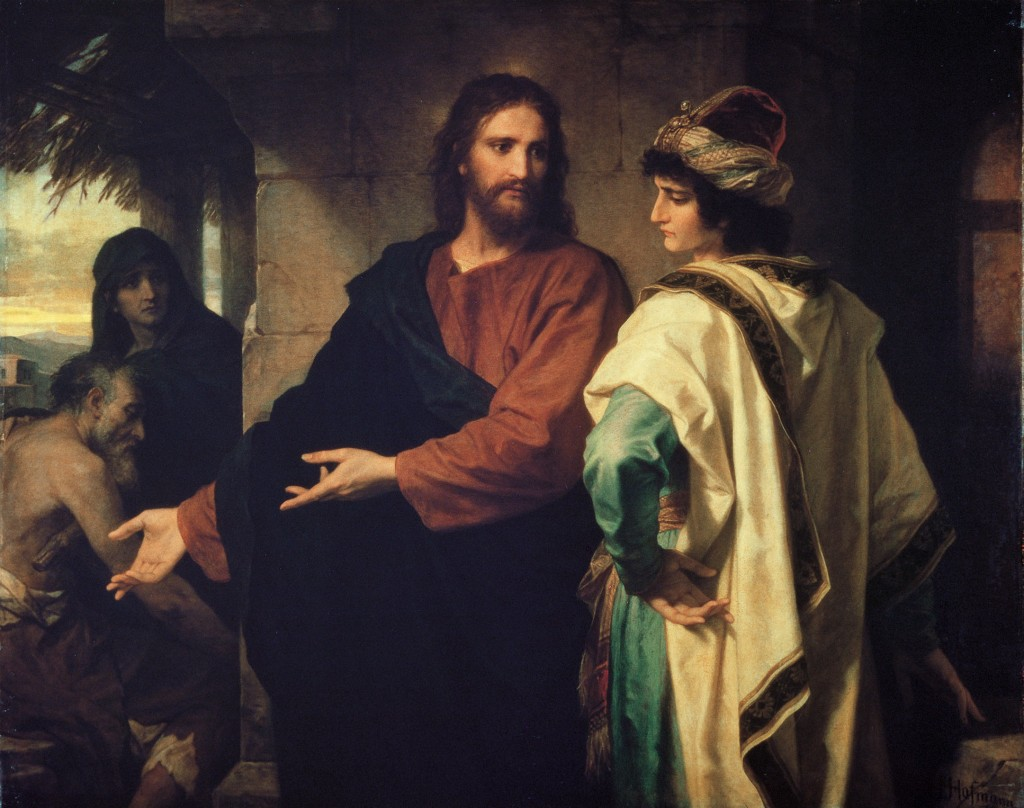 Christ And The Rich Young Ruler, by Heinrich Hoffmann | US-PD