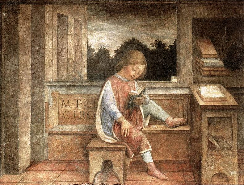 The Young Cicero Reading | Vincenzo Foppa [Public domain], via Wikimedia Commons