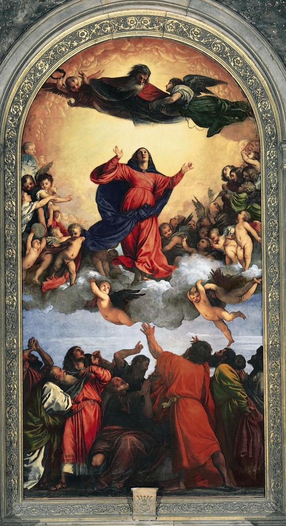 Titan's Assumption of Mary via Wikimedia Commons, public domain