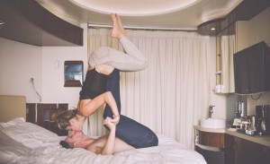 I don't think any NFP book meant *this* when it suggested yoga as a form of spousal bonding...