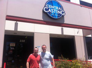 Picture of my friend Brian Shackman and I at Central Casting in Hollywood