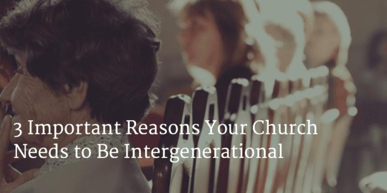3 Reasons to be integenerational