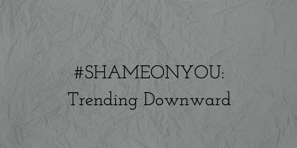 Shame Trending Downward