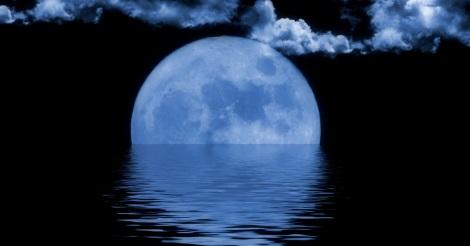 blue moon on water