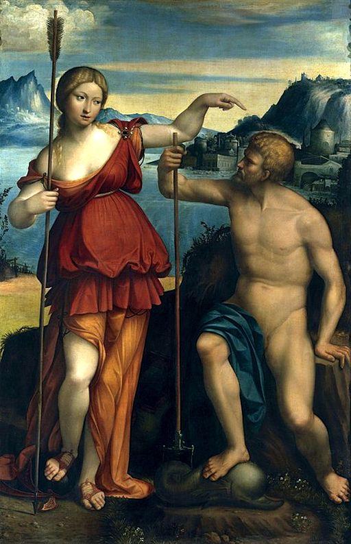 Athena and Poseidon battle for Athens