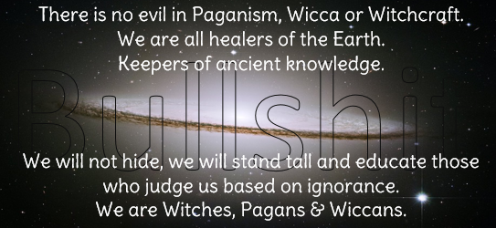 Pagans can't be evil, apparently.