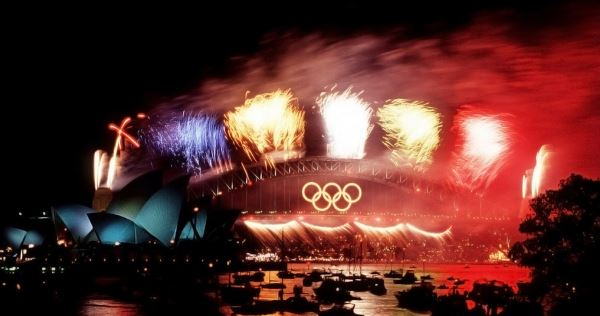 Sydney harbour, olympics closing ceremony