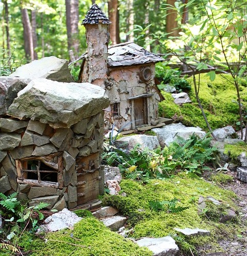 Beltane for kids, make a fairy garden or house