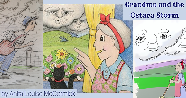 Grandma and the Ostara Storm, a book for Pagan children