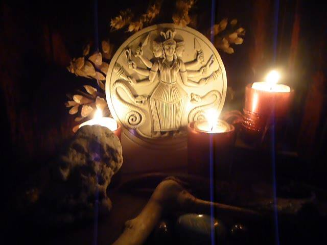 Shrine to the Goddess Hekate - the Goddess of The Chilling Adventures of Sabrina.