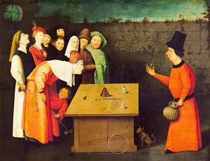 The Conjurer, 1475-1480, by Hieronymus Bosch