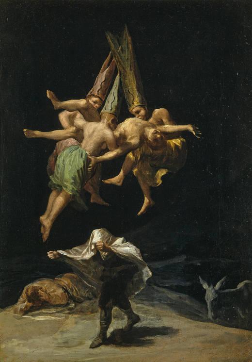 Francisco Goya, Witches' Flight, 1797-98.