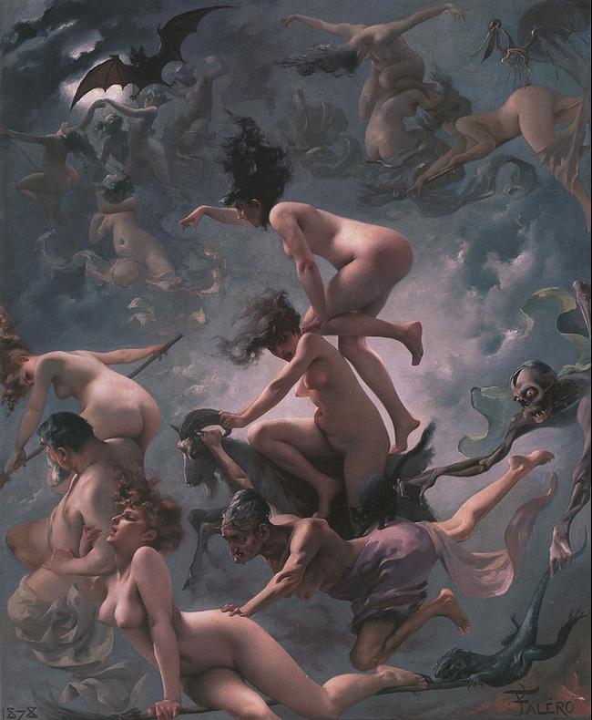 Witches on the Sabbath, 1878 by Luis Ricardo Falero.
